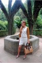 Tous bag - Sfera cardigan - Zara heels - Mango romper