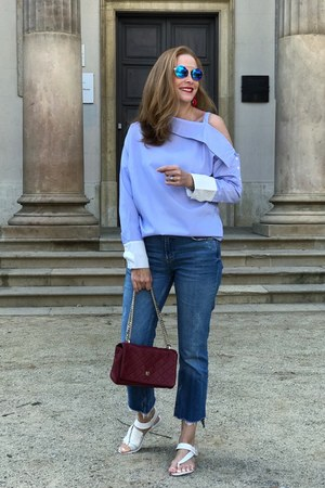 zaful shirt - Zara jeans - Carolina Herrera bag - Mam Originals sunglasses