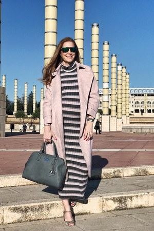 ovs dress - VIPme coat - Michael Kors bag - Zara heels