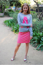 H&M skirt - Zara sandals - Vero Moda jumper