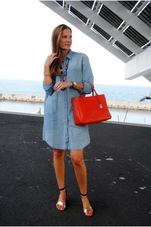 Gap dress - Furla bag - &Other stories heels