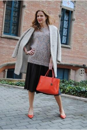 Escorpion sweater - Sheinside coat - Furla bag - Zara skirt - Zara heels
