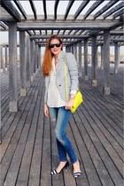 Zara shoes - Zara jeans - Zara blazer - Zara bag - rayban sunglasses
