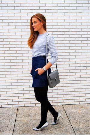Wolford panties - Primark sweater - ecco bag - Zara skirt