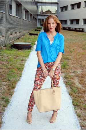 coach bag - Primark shirt - Zara pants - serena whitehaven wedges