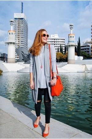 Zara sweater - H&M jeans - Pianno29 blazer - Furla bag - Zara heels