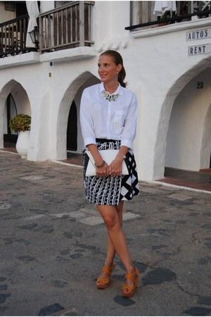 Zara bag - Peter Pilotto skirt - pull&bear wedges - pull&bear blouse