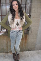 Forever 21 accessories - Forever 21 boots - BCBG jeans - H&M shirt
