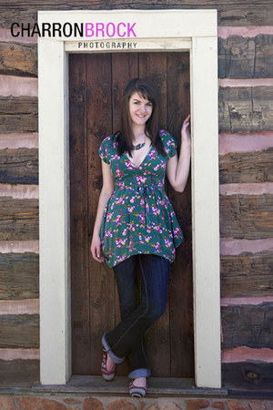green floral dress - blue American Eagle jeans - sky blue American Eagle flats -