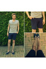 Navy-armistice-shoes-navy-zara-shorts-silver-v-neck-h-m-t-shirt