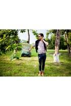 skinny jeans Zara jeans - floral print Florin Dobre shirt