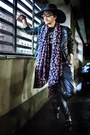 Black-zara-shoes-black-zara-hat-floral-h-m-scarf