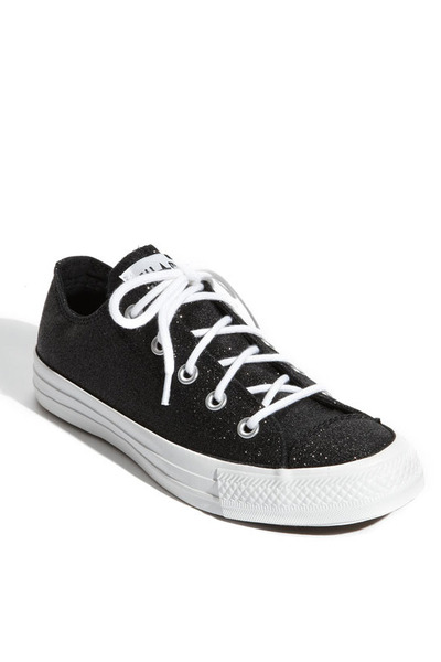 black winter glitz Converse Chuck Taylor shoes