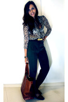 Zara bag - Uterqe shoes - Zara pants - Zara blouse
