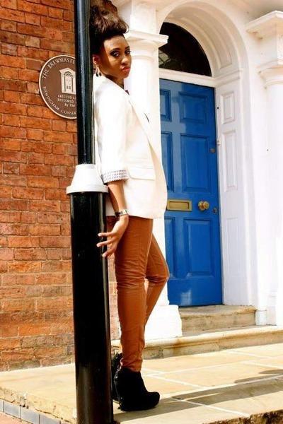 silver silver Michael Kors watch - tawny Zara leggings