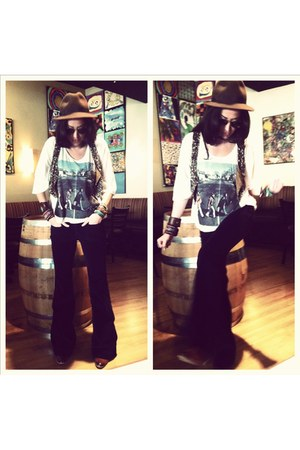 bronze Urban Outfitters vest - tawny parley sam edelman boots