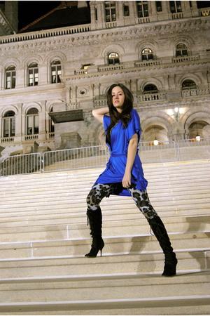 blue Diane Von Furstenberg dress - gray Diane Von Furstenberg leggings - black M