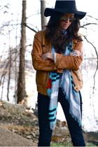 tawny banana republic jacket - tawny KORS boots - dark gray AG jeans