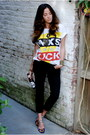 Vintage-t-shirt-crop-level-99-pants-floral-miu-miu-pumps