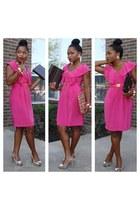 bold H&M dress - classic Avon heels