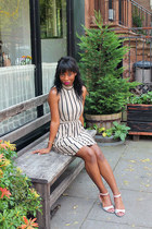 stripescotton asos dress - calvin klein heels