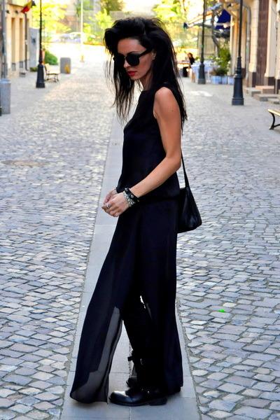 black Cosmina Pasarin T shirt Collection dress - black leather Esprit bag