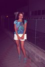 Clutch-random-brand-bag-new-look-shorts-ebay-sandals-silky-boohoo-blouse