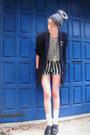 Heather-gray-beanie-ebay-hat-navy-secondhand-jacket
