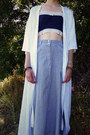 Light-blue-maxi-skirt-look-vintage-skirt-navy-bustier-asos-intimate