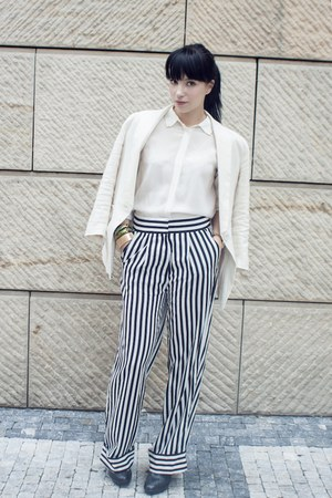 gold ADR for H&amp;M accessories - white striped H&amp;M pants