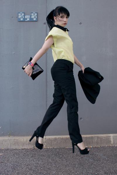 lime green Romwecom shirt - black asoscom shoes