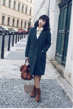 dark green H&M Trend coat