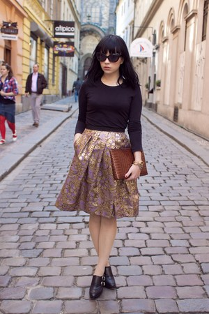 brocade Marni for H&M skirt - vintage purse