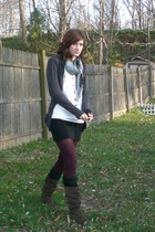 Forever 21 sweater - HUE tights - top - DIY skirt - accessories - Steve Madden b