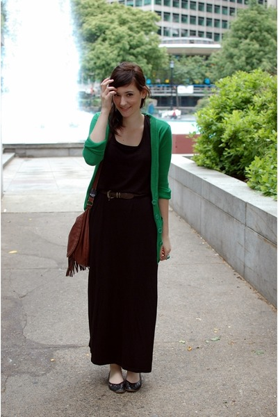 Maxi dress black h&m blazer with zipper sleeves