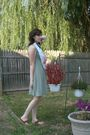 Green-victorias-secret-dress-brown-vintage-from-etsy-purse-red-newport-news-