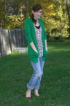 Forever 21 sweater - Forever 21 blouse - jeans - accessories - xhilaration shoes