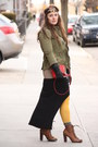 Tawny-free-people-accessories-black-zara-dress-army-green-army-zara-jacket