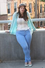 Sky-blue-zara-jeans-camel-anthropologie-hat-ivory-free-people-top