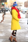 Blue-beanie-jcrew-hat-brown-lace-up-boots-yellow-wool-blend-j-crew-coat