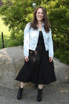 black lace up boots Jeffrey Campbell boots - Zara jacket