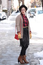 Red-topshop-bag-brown-lace-up-boots-black-wool-nordstrom-hat