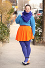Blue-hue-tights-blue-wool-blend-j-crew-scarf