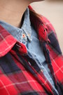Periwinkle-cotton-vintage-shirt-ruby-red-plaid-forever-21-shirt