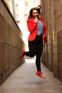 Red-zara-blazer-ruby-red-studded-zara-boots-black-skinny-zara-jeans