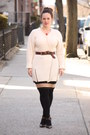 Ivory-ribbed-topshop-sweater-black-hue-tights-tan-striped-forever-21-skirt