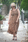 Black-black-zara-sandals-brown-cheetah-print-asos-dress