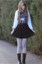 white Lands End sweater - white lace Target tights