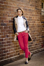 Camel-leather-sleeves-burberry-coat-red-skinny-witchery-jeans
