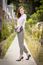 Zara pants - cotton t Witchery shirt - pointy toe D&G heels